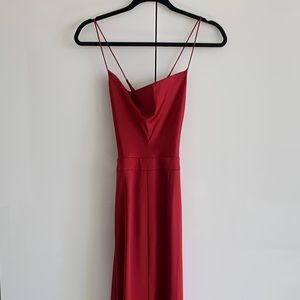 Revolve NBD red strappy formal maxi dress size 2